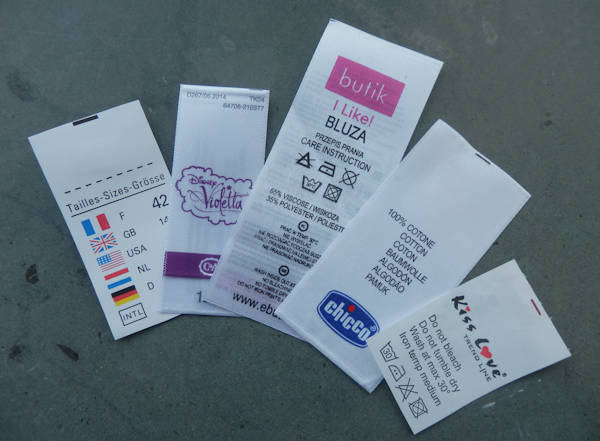 printed textile labels